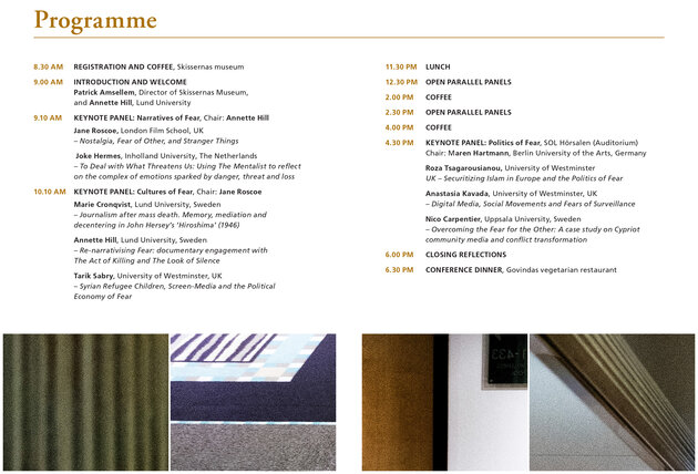 Click on the above image to find the entire programme, including open parallel panels